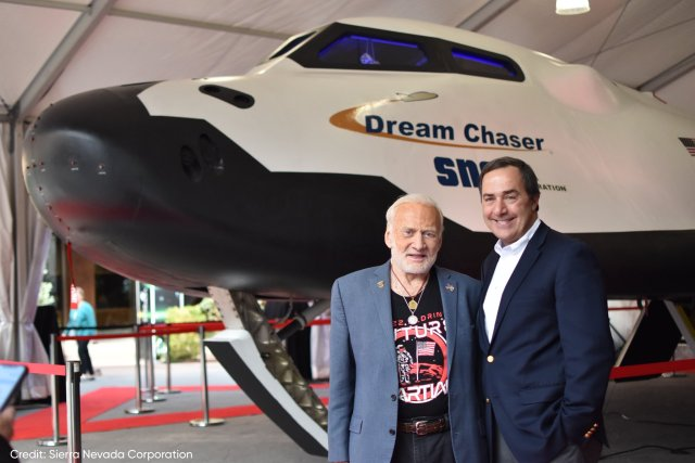 Buzz Aldrin and Mark Sirangelo