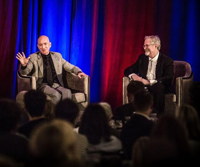 Jeff Bezos and Alan Boyle