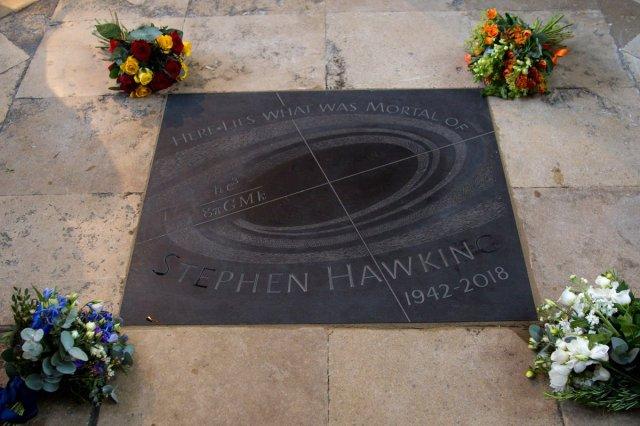 Stephen Hawking memorial stone