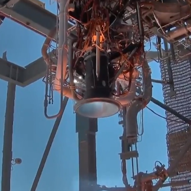 BE-3U rocket engine testing
