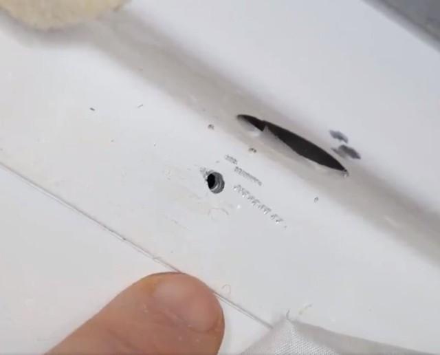 Soyuz leak hole