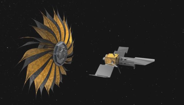 Telescope with starshade