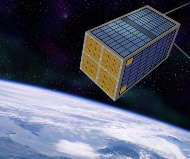 Thruster chips on satellite