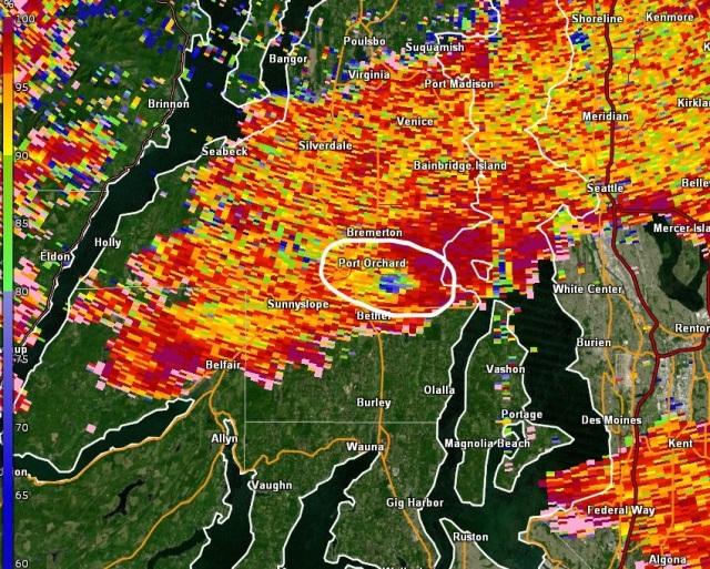 Tornado on Doppler image