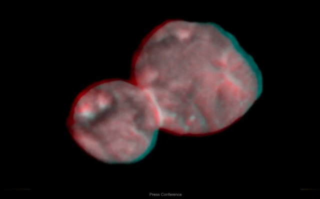 Ultima Thule in 3-D