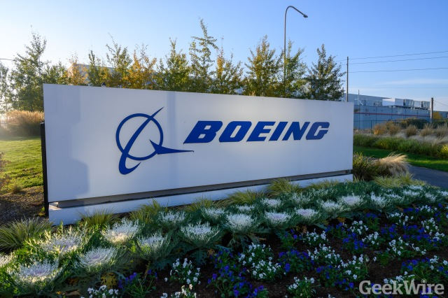 Boeing sign