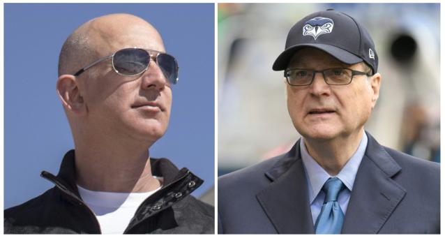 Jeff Bezos and Paul Allen