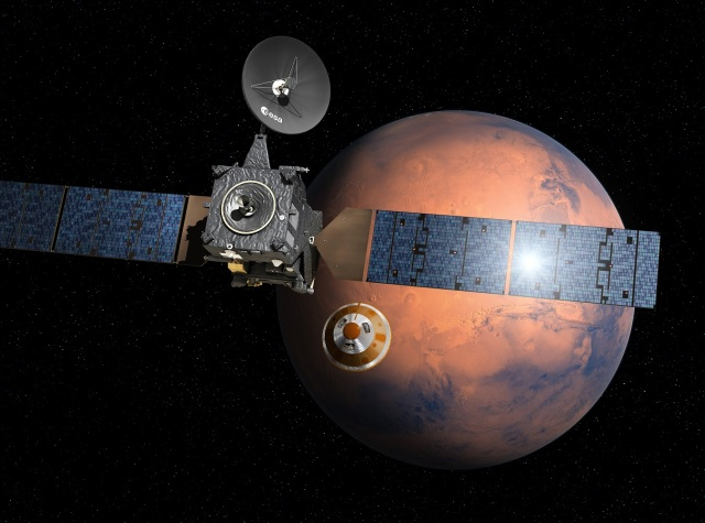 Trace Gas Orbiter and Schiaparelli lander