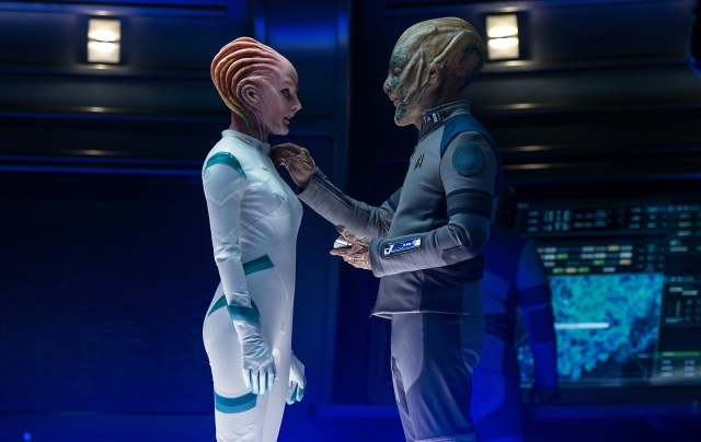 Lydia Wilson and Jeff Bezos