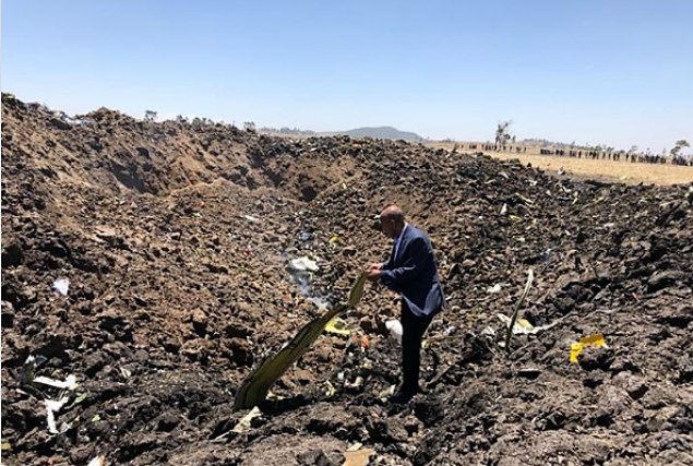 Ethiopian Airlines crash site
