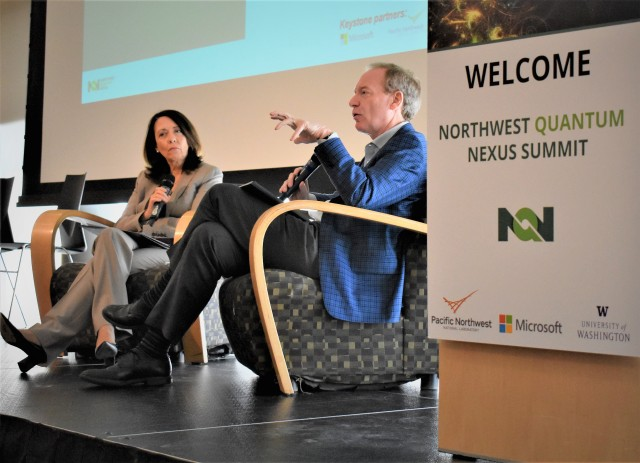 Sen. Maria Cantwell and Microsoft's Brad Smith