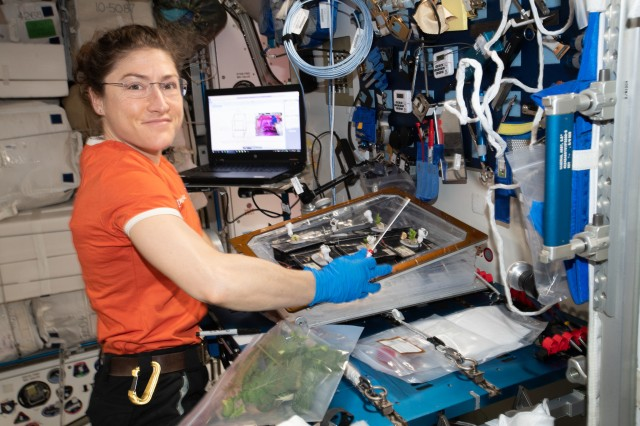 Christina Koch on ISS