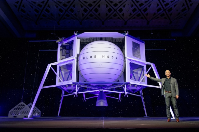 Jeff Bezos and Blue Moon lander