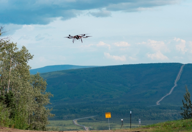 Alaska drone flight
