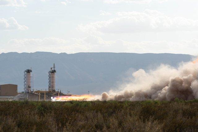 Blue Origin engine test
