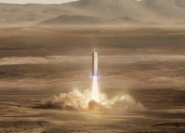 Starship on Mars