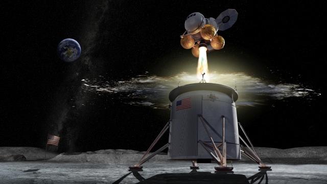 Lunar lander takeoff