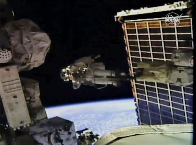 Spacewalker at work