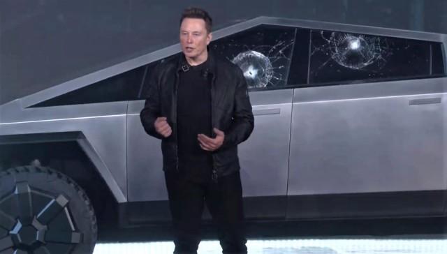 Elon Musk at Cybertruck rollout