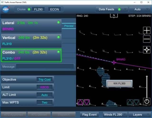 TASAR screen view
