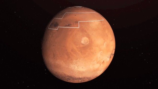 Mars water ice map