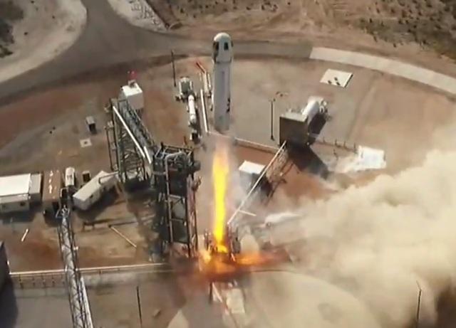 Blue Origin New Shepard launch