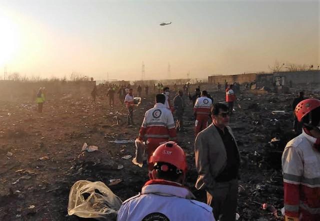 Crash scene in Iran