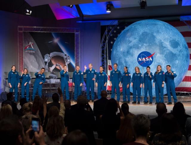 Graduating astronauts