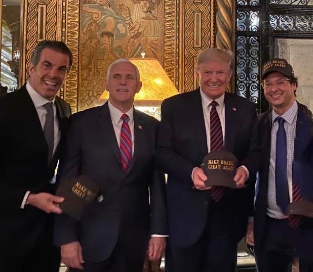 Donald Trump, Mike Pence with Brazilian guests